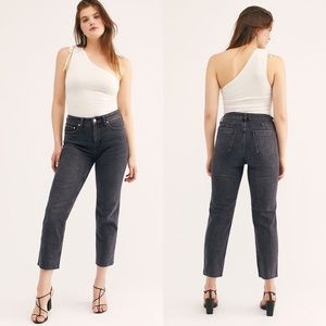 NWOT Free People CRVY High Rise Straight Leg Jeans